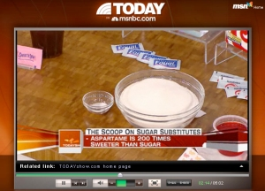 "This story on Aspartame was just on this morning... the second of the one-two marketing punch of the Rumsfeld ""Swine flu—Aspartame"" evil self interest...!"