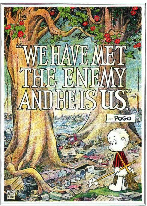 The Analogy is clear I hope. Timeless, truthful lesson from Pogo.